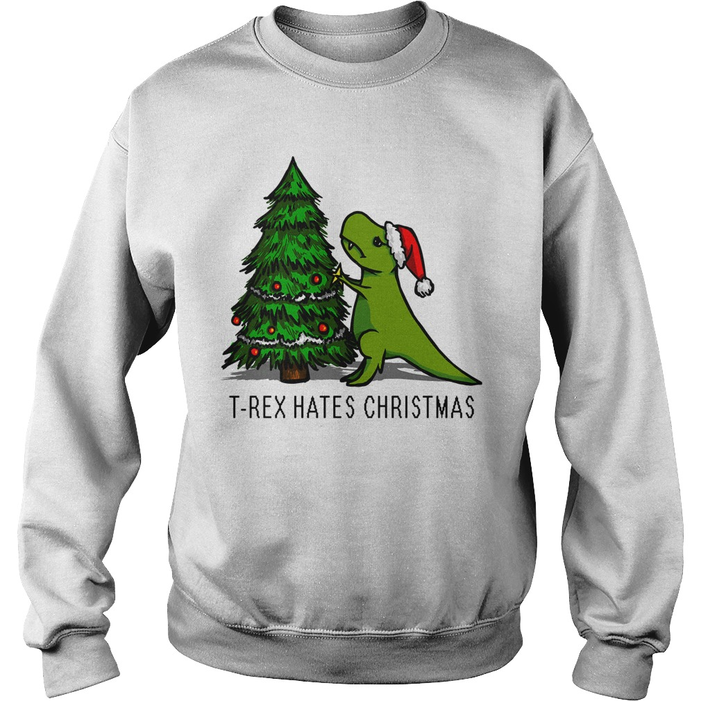T-Rex Hates Christmas sweater