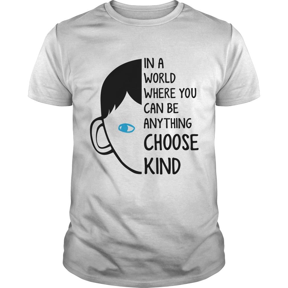 Teacher choose kind world shirt