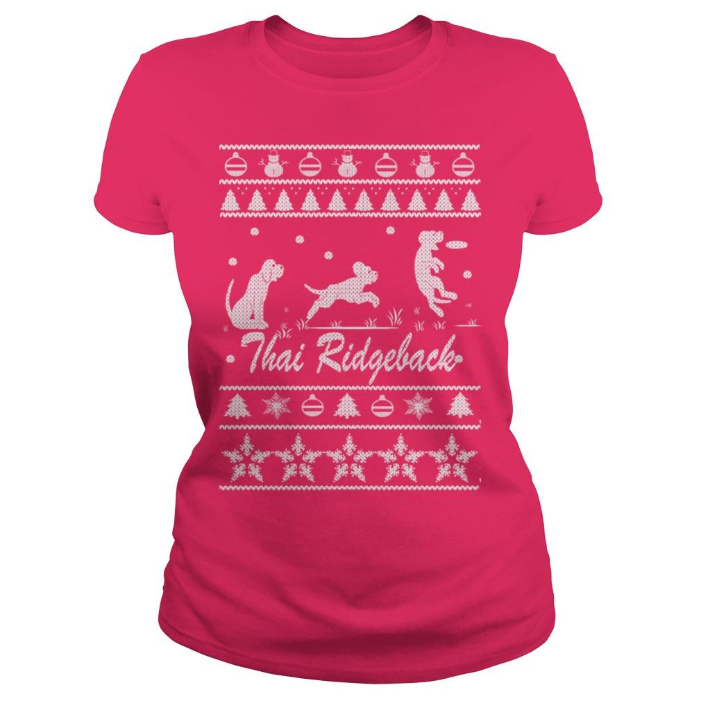 Thai Ridgeback Chirstmas Ladies tee