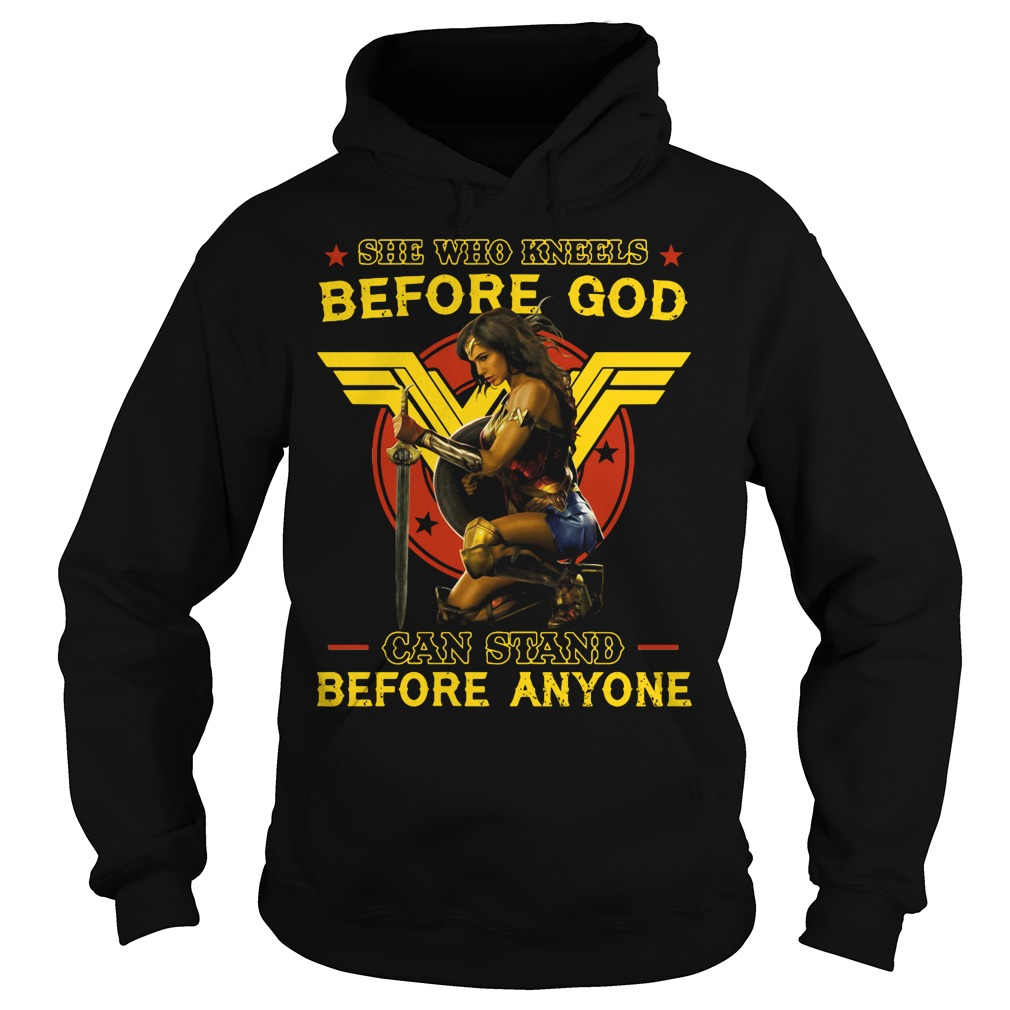 Wonder Woman: She who kneels before god can stand before anyone Hoodie