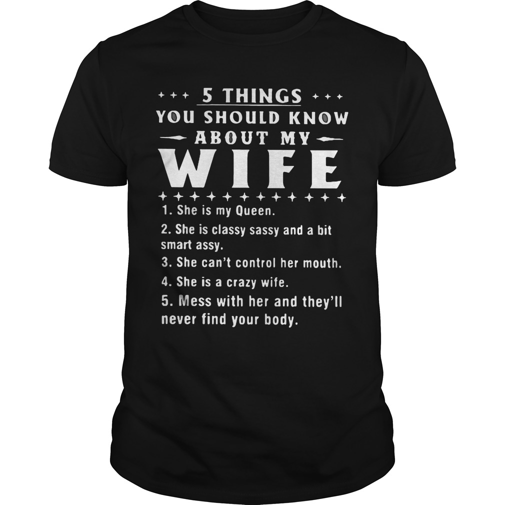 5 thing you should know about my wife shirt