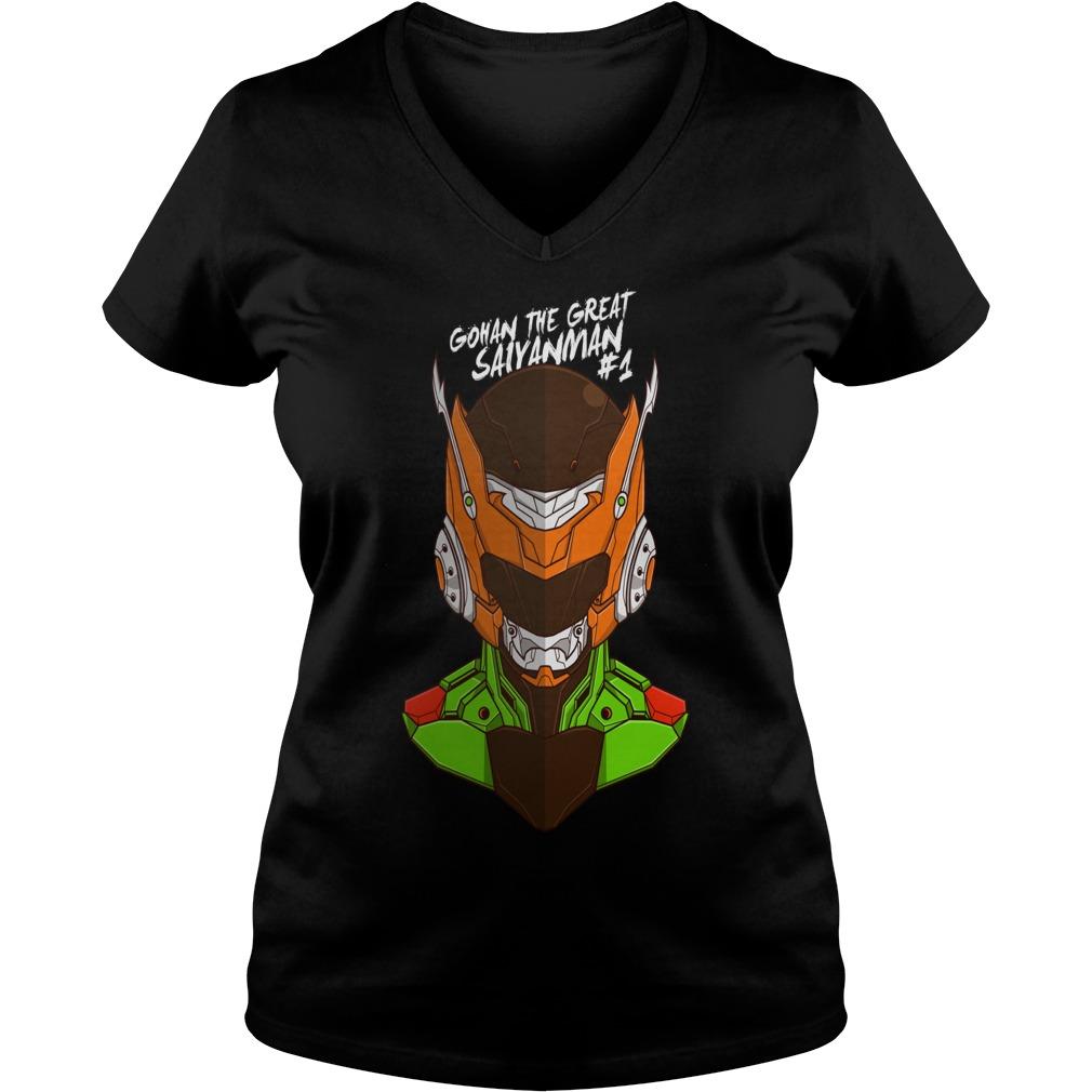 Awesome Tee Robo Gohan anime manga V-neck t-shirt