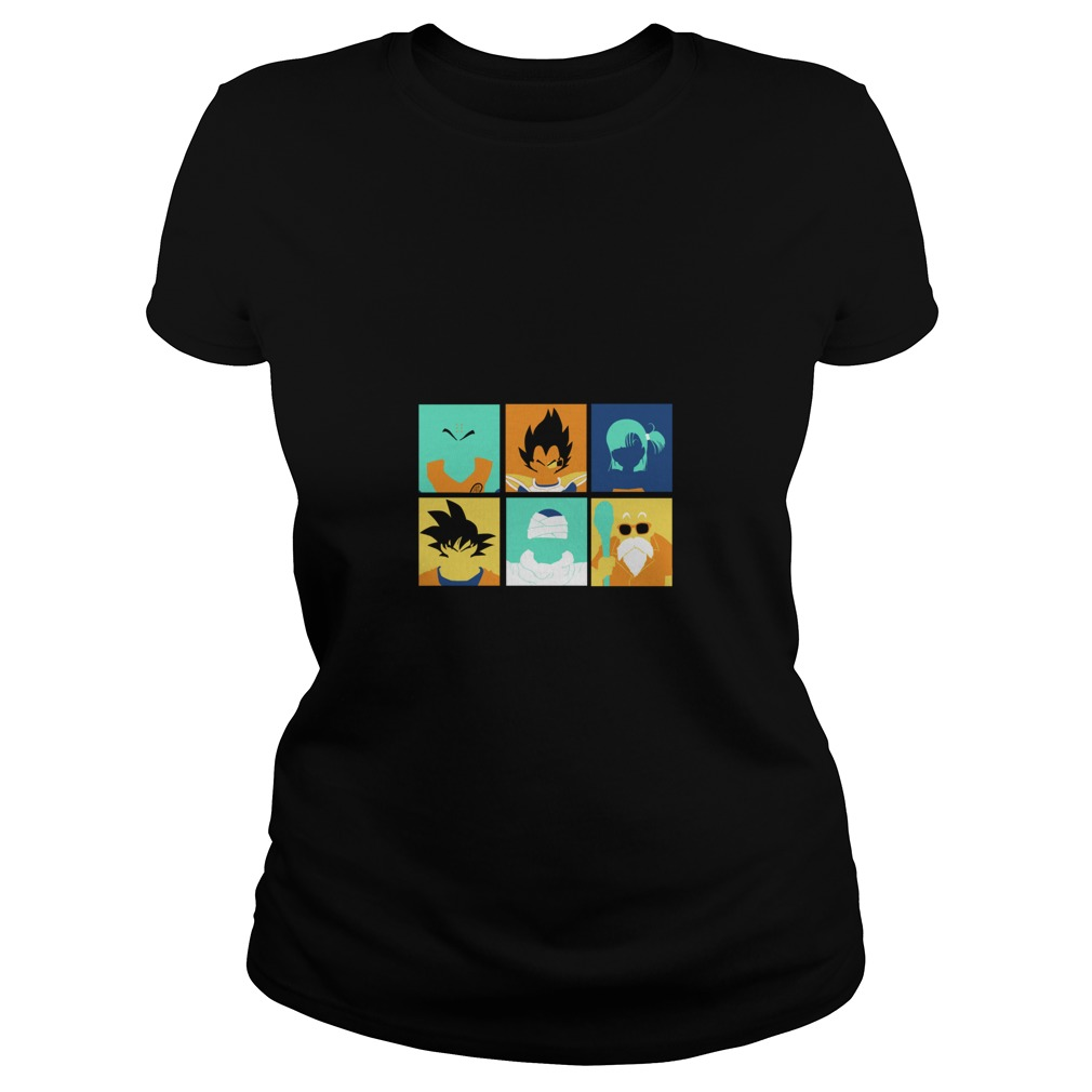 Dragon Ball pop art anime manga Ladies tee