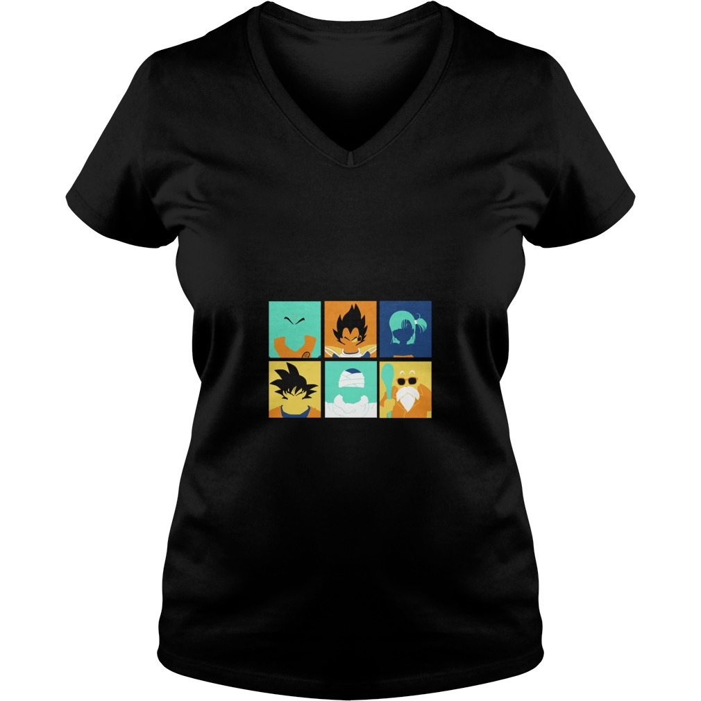 Dragon Ball pop art anime manga V-neck t-shirt