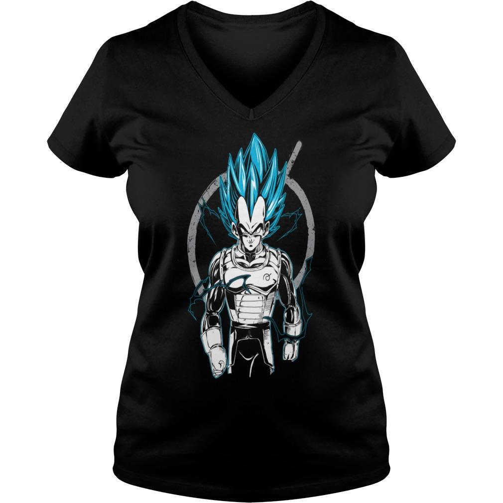 Dragon Ball super saiyan Vegeta god V-neck t-shirt