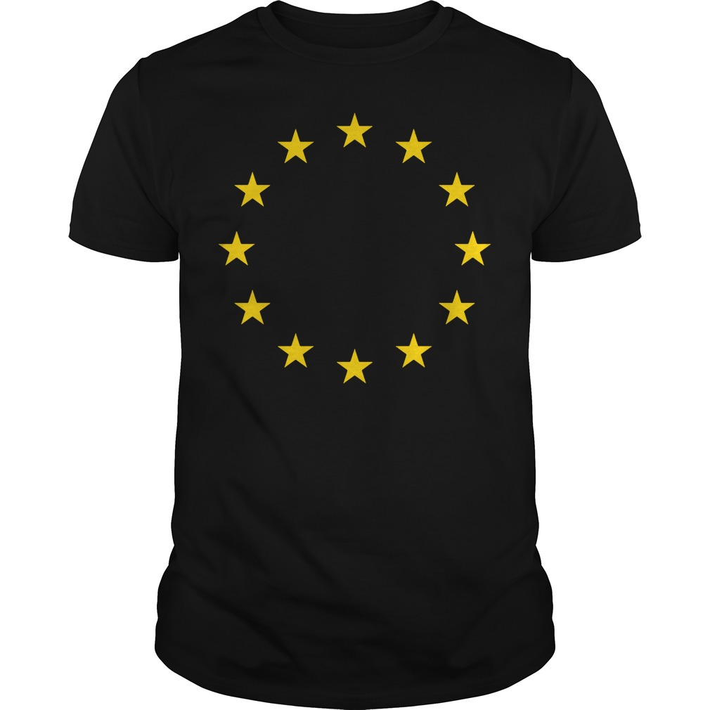 Europe I love the European union EU flag shirt