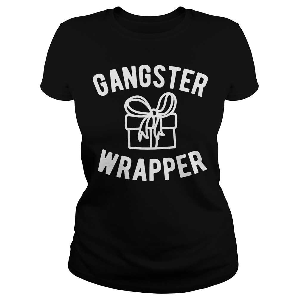 Gangster Wrapper funny Christmas Ladies tee