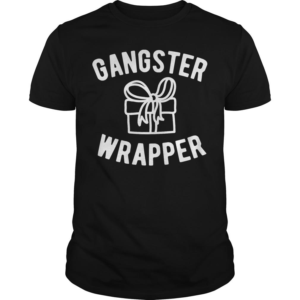 Gangster Wrapper funny Christmas Guys shirt