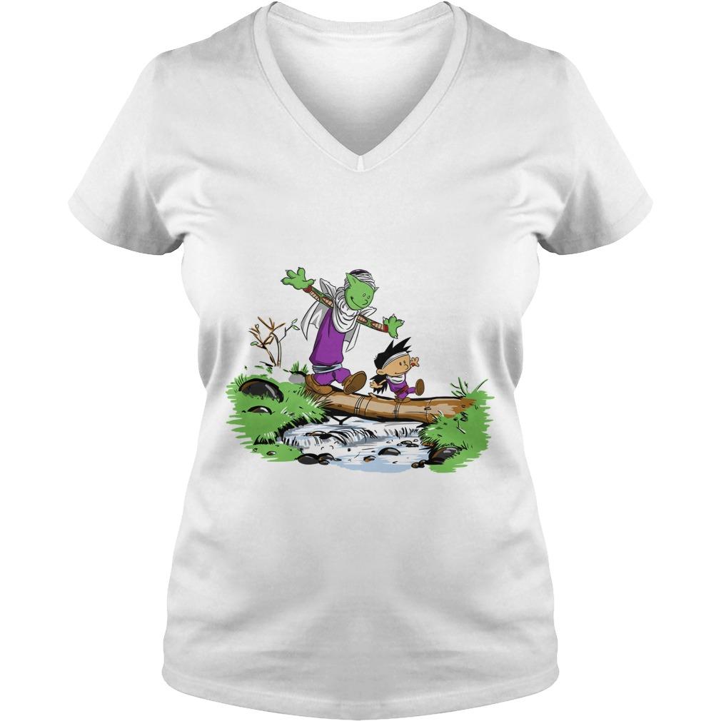 Gohan and piccolo pai V-neck t-shirt