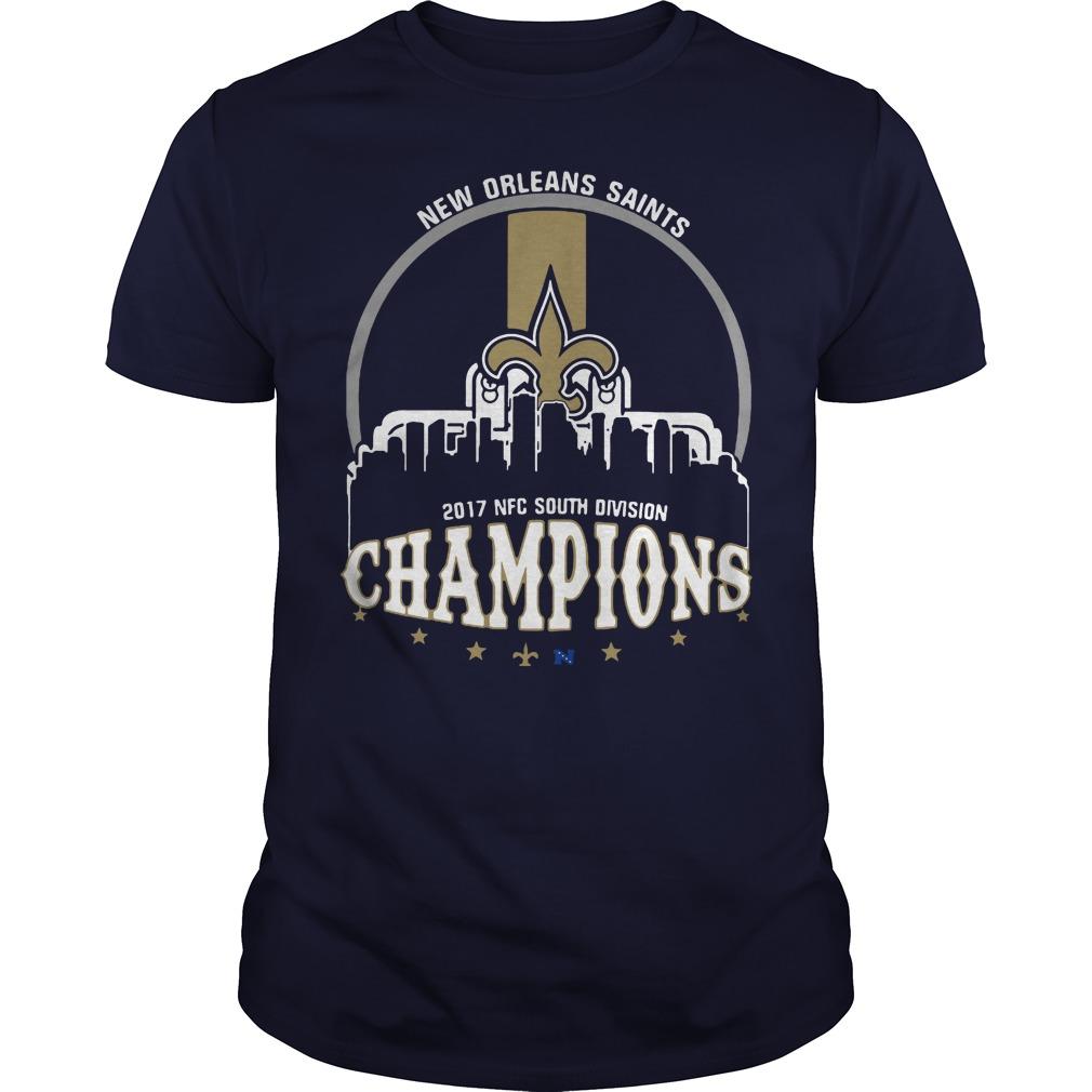 New orleans saints 2017 NFC south division champion shirt