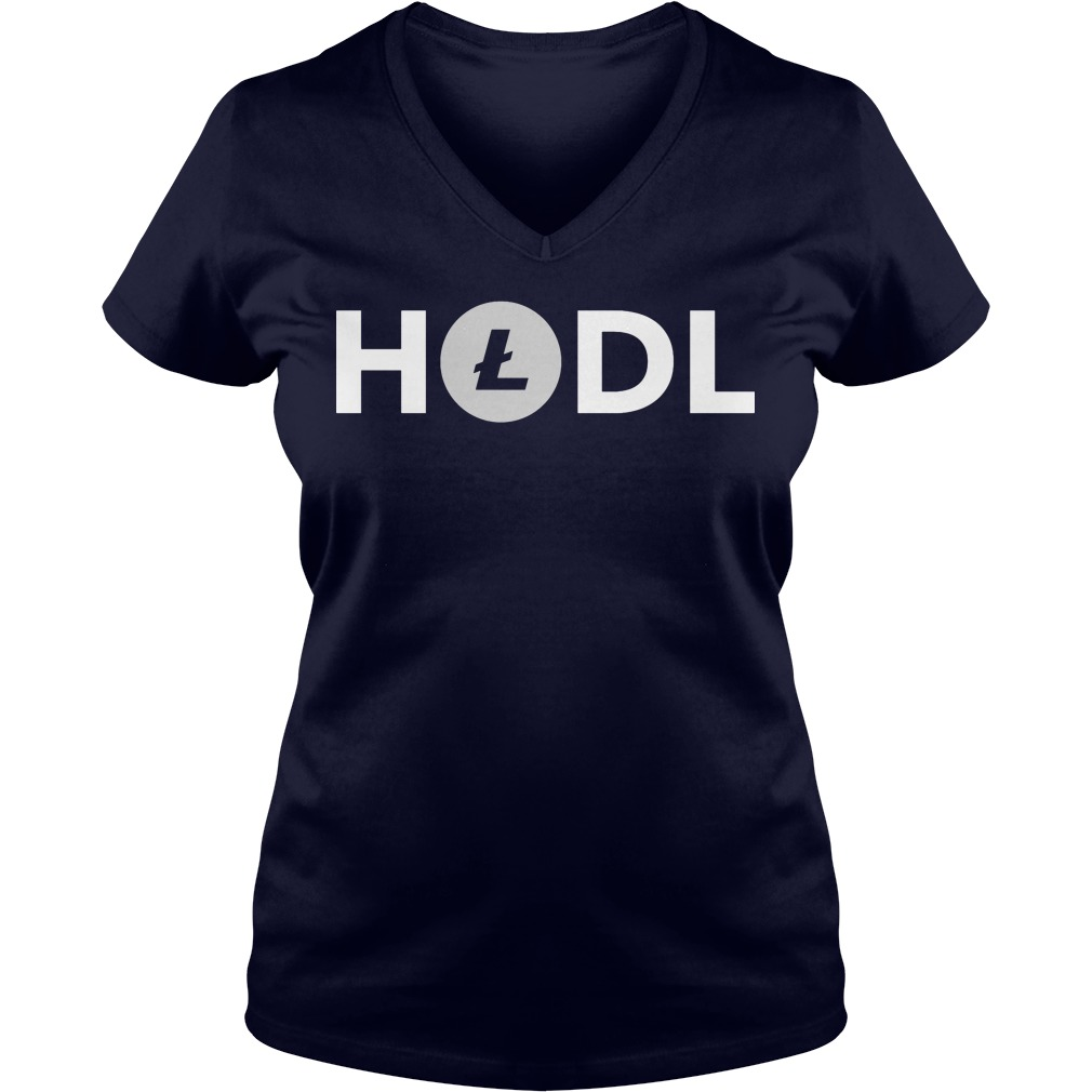 Official Hodl Litecoin V-neck t-shirt