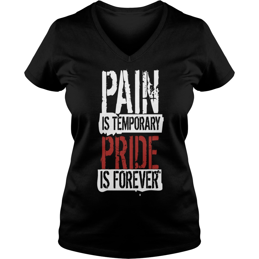 Pain is temporary pride is forever Goku V-neck t-shirt