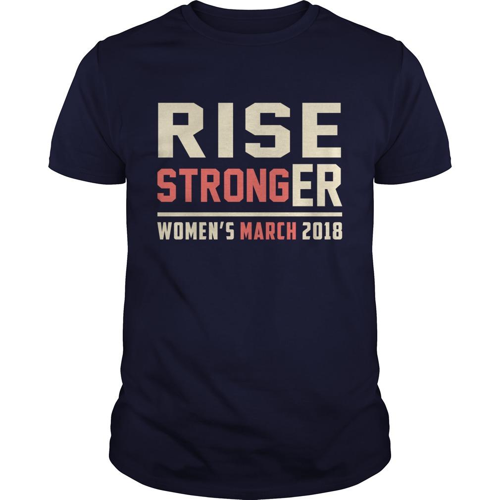 Rise Stronger Womens March 2018 shirt