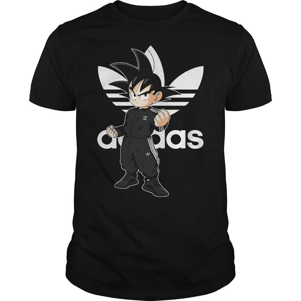 Songoku kid adidas shirt