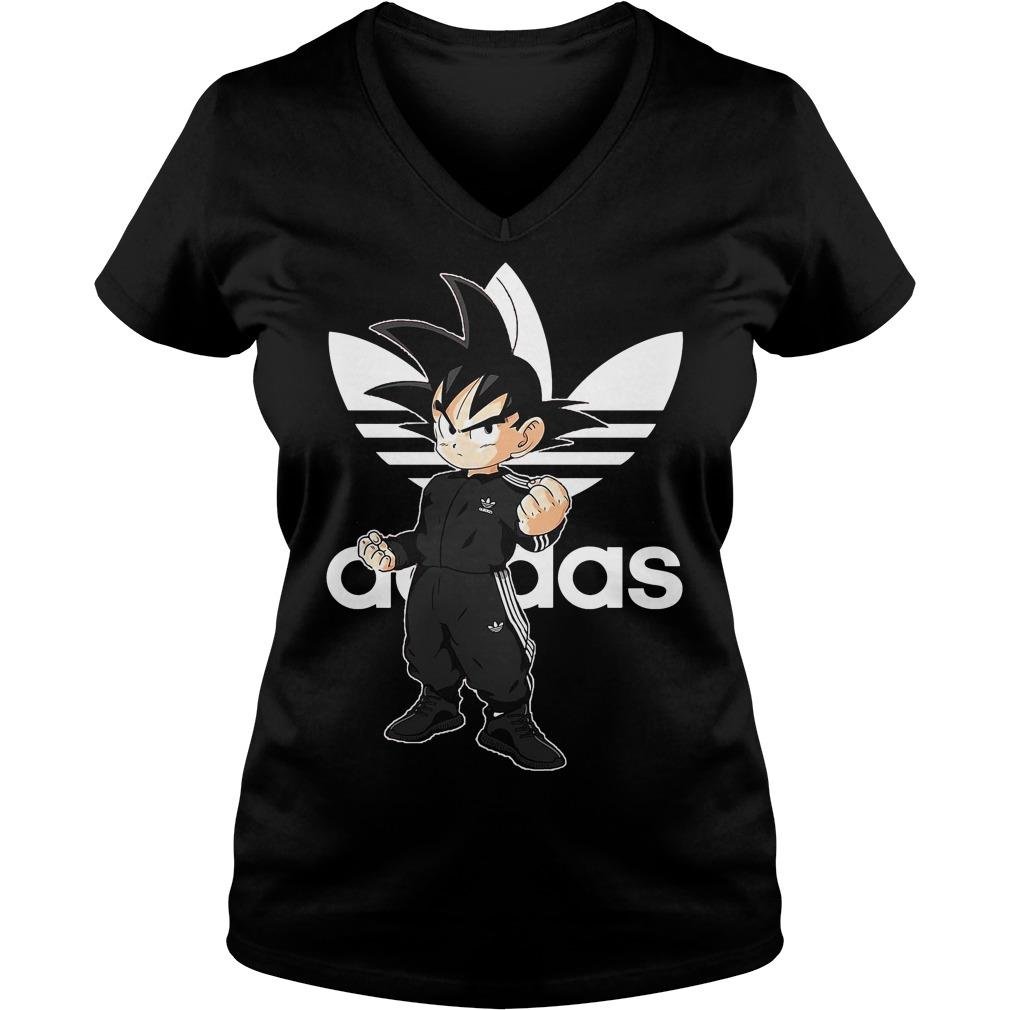 Songoku kid adidas V-neck t-shirt