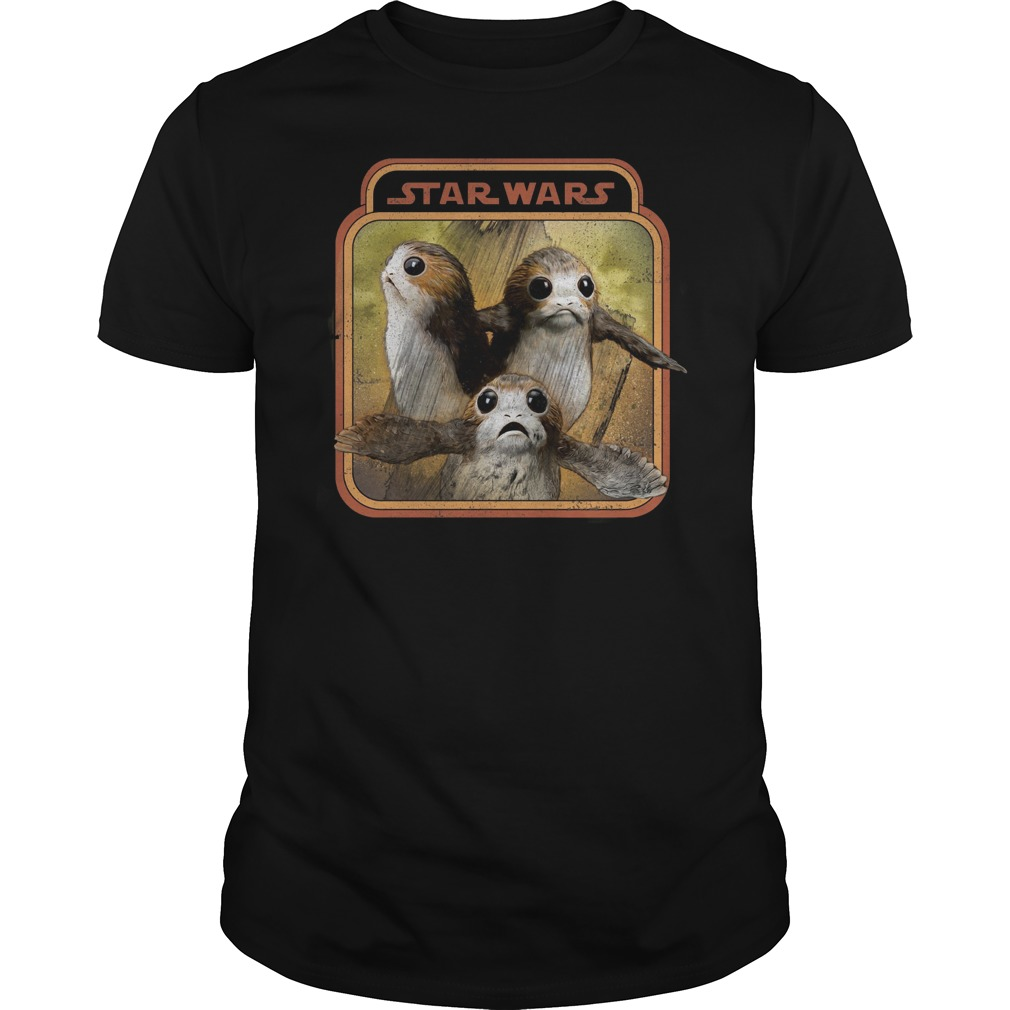 Star war last Jedi Porg triplets retro box shirt