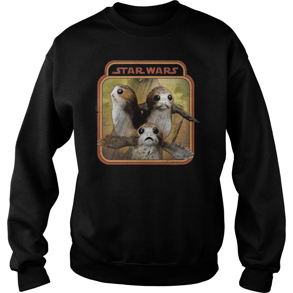 Star war last Jedi Porg triplets retro box Sweater