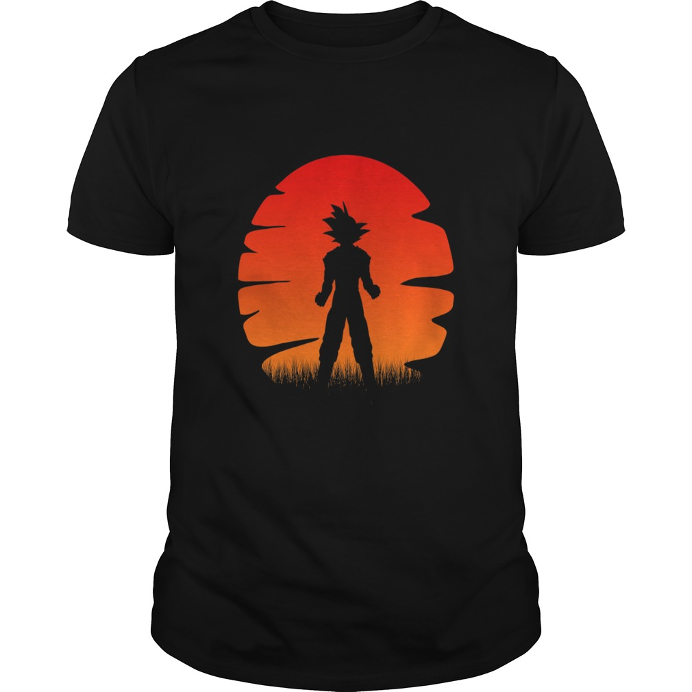 The sunset of super saiyan shirt