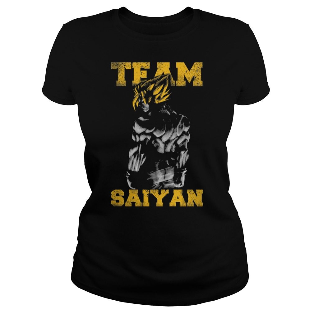 Team Saiyan gym friends Cartoon Anime muscle Ladies tee