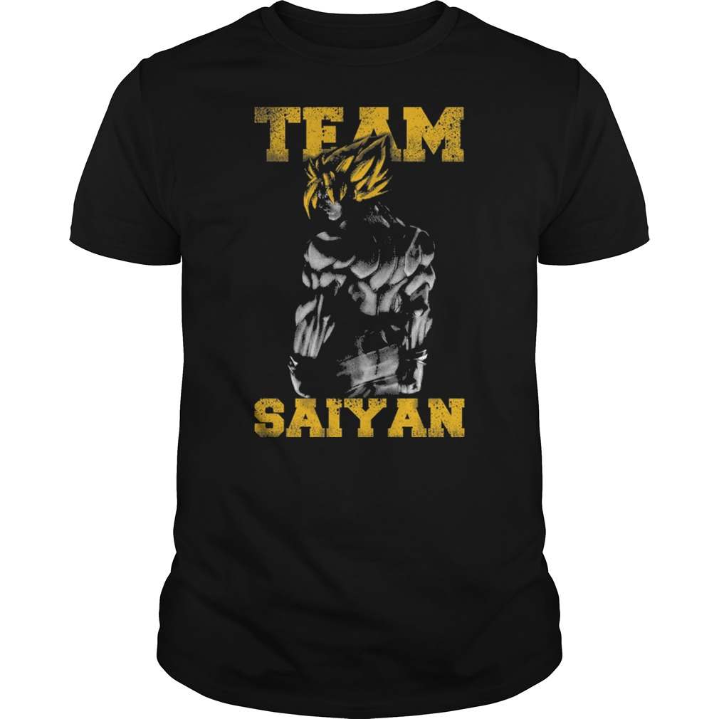 Team Saiyan gym friends Cartoon Anime muscle shirt