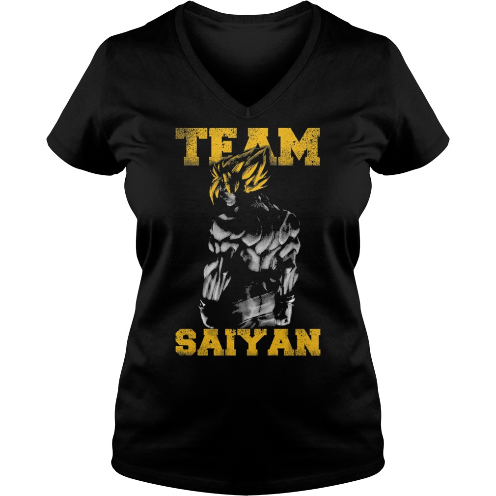 Team Saiyan gym friends Cartoon Anime muscle V-neck t-shirt