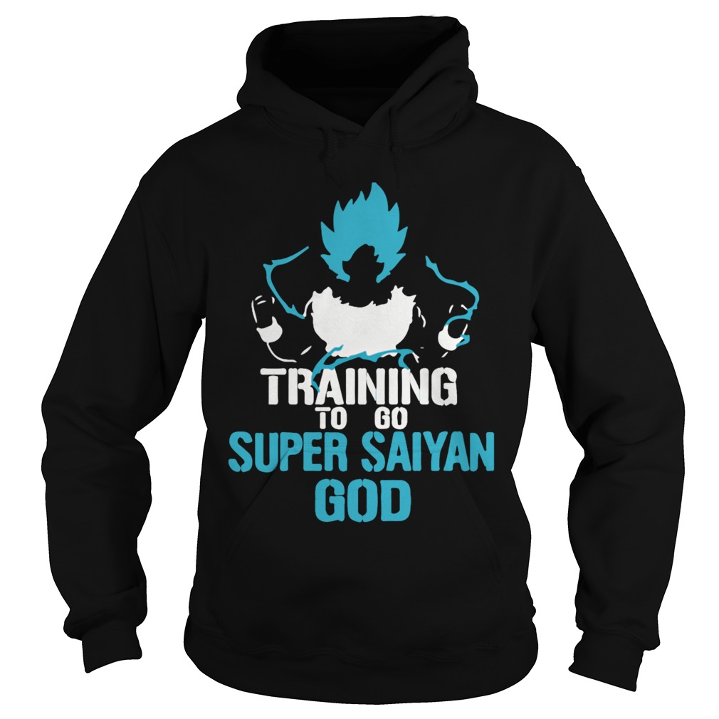 Training to go Super Saiyan GOD DBZ Dragon Ball Z Hoodie