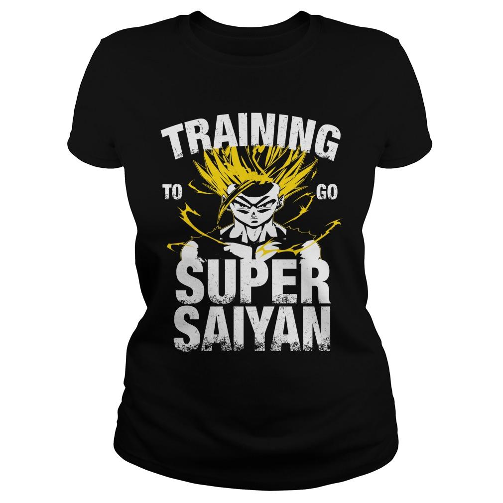 Training to go Super Saiyan – Gohan Ladies tee