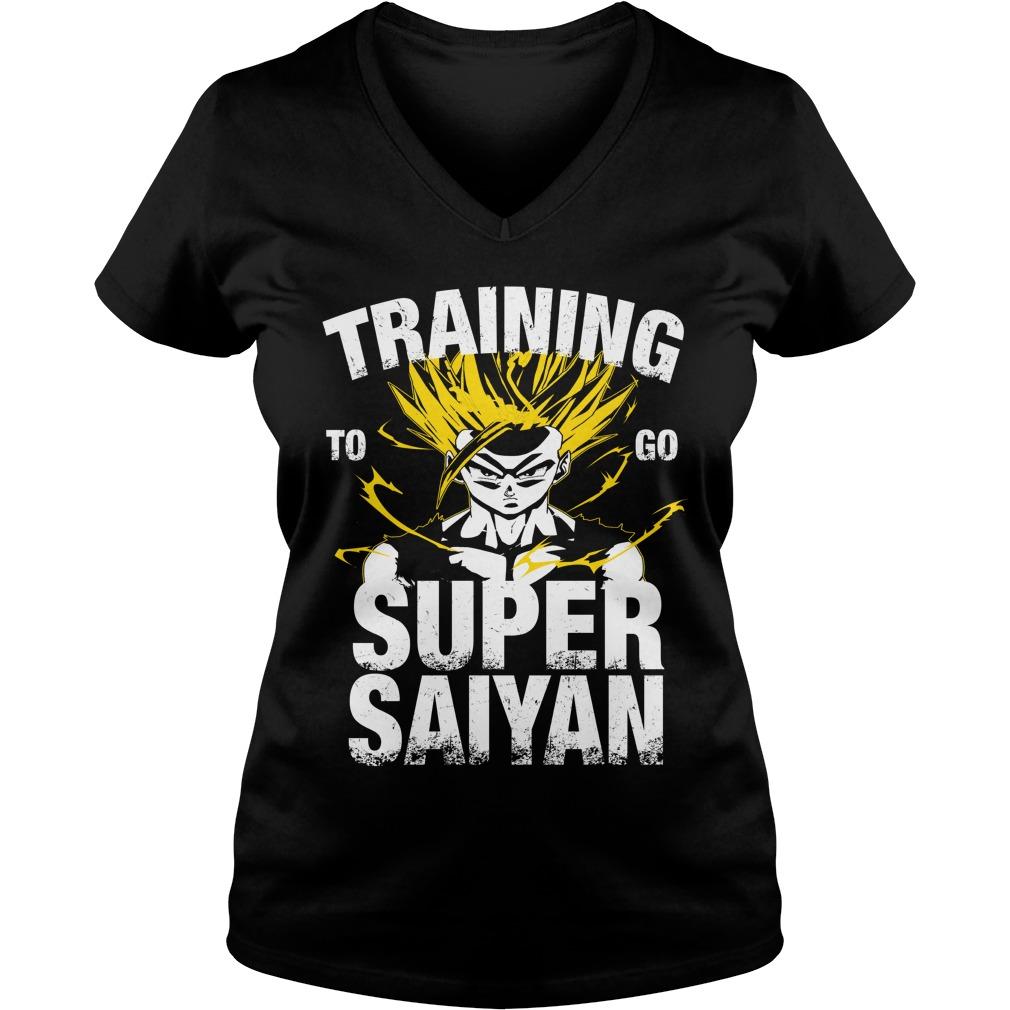 Training to go Super Saiyan – Gohan V-neck t-shirt
