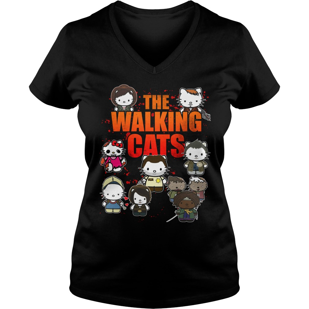 The Walking Cats V-neck t-shirt