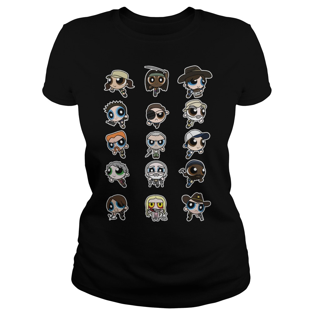 The Walking Dead character Chibi Ladies tee