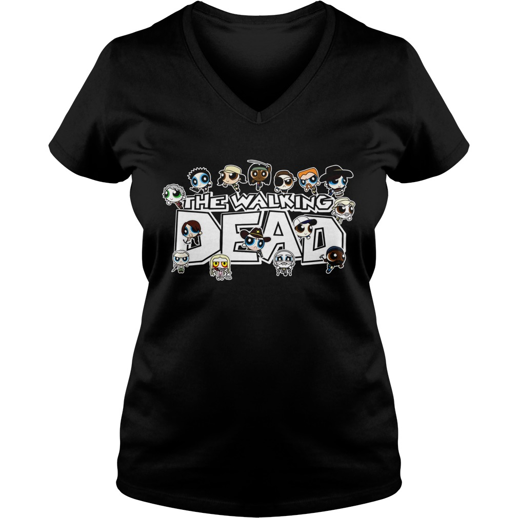 The Walking Dead character Chibi V-neck t-shirt