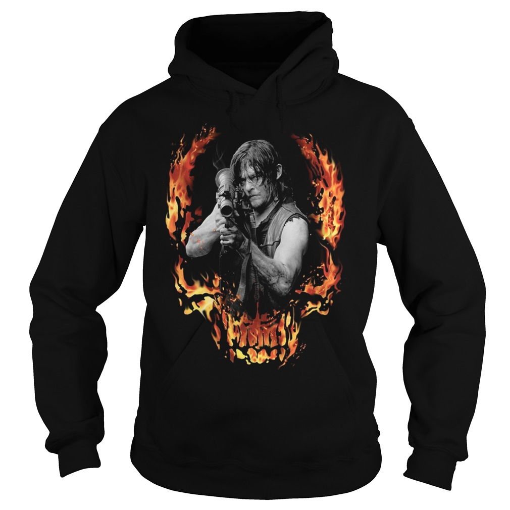 The Walking Dead Daryl Dixon with Bazooka front Hoodie