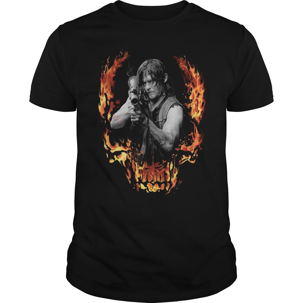 The Walking Dead Daryl Dixon with Bazooka front shirt