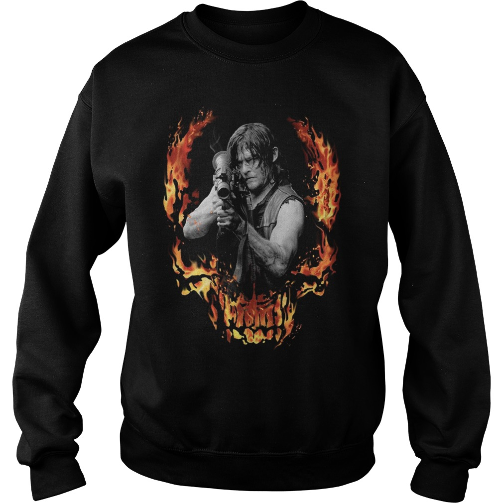 The Walking Dead Daryl Dixon with Bazooka front Sweater