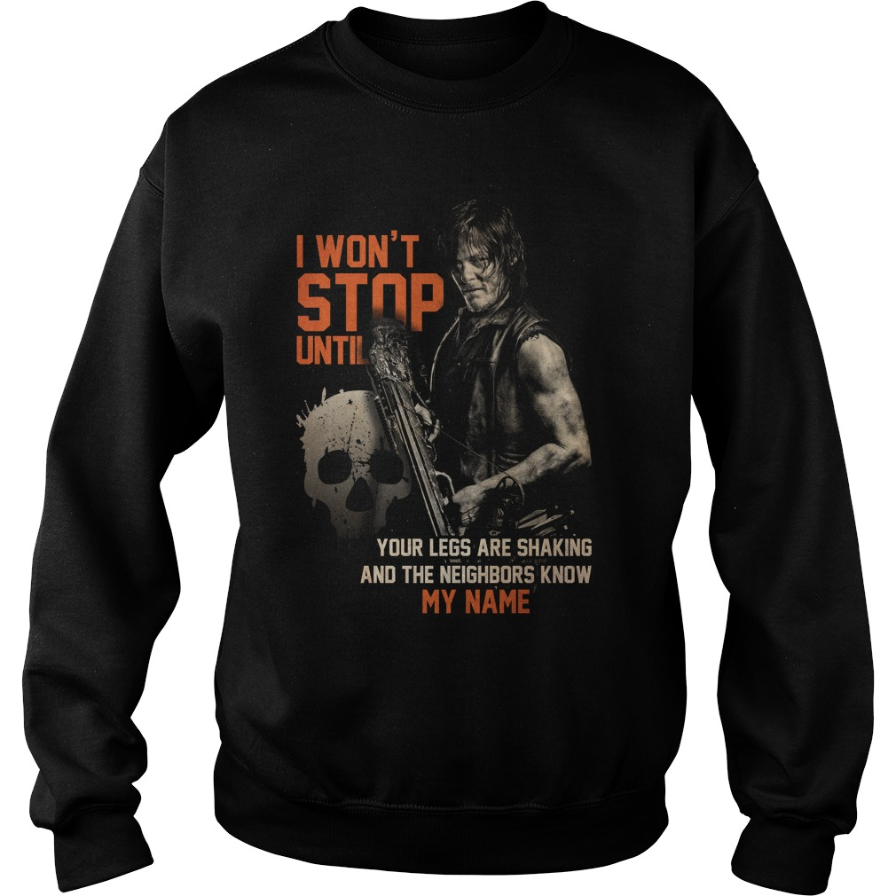 The Walking Dead Daryl Dixon I won't stop until Sweater