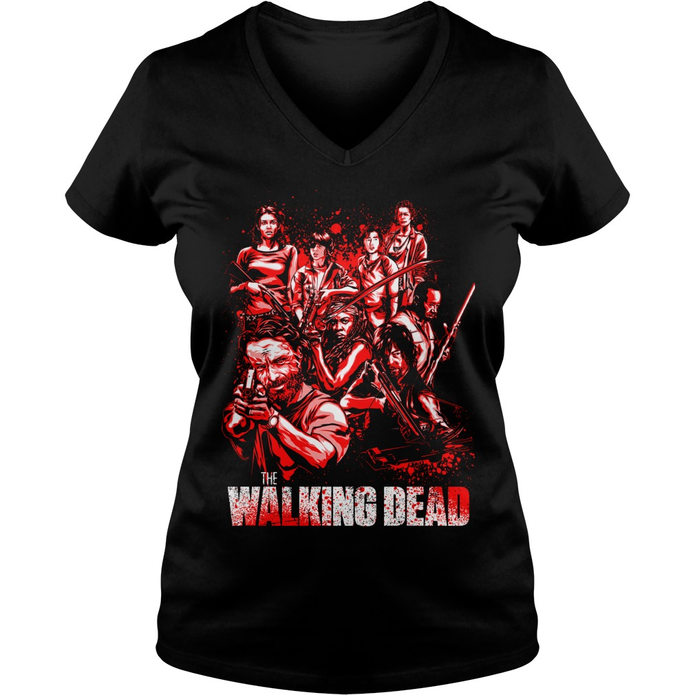 THe Walking Dead full character V-neck t-shirt