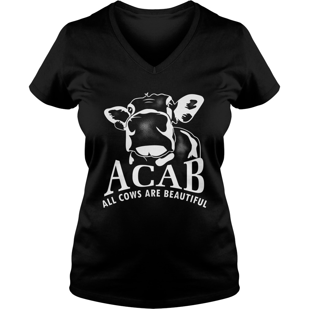 Acab all cows are beautiful V-neck t-shirt