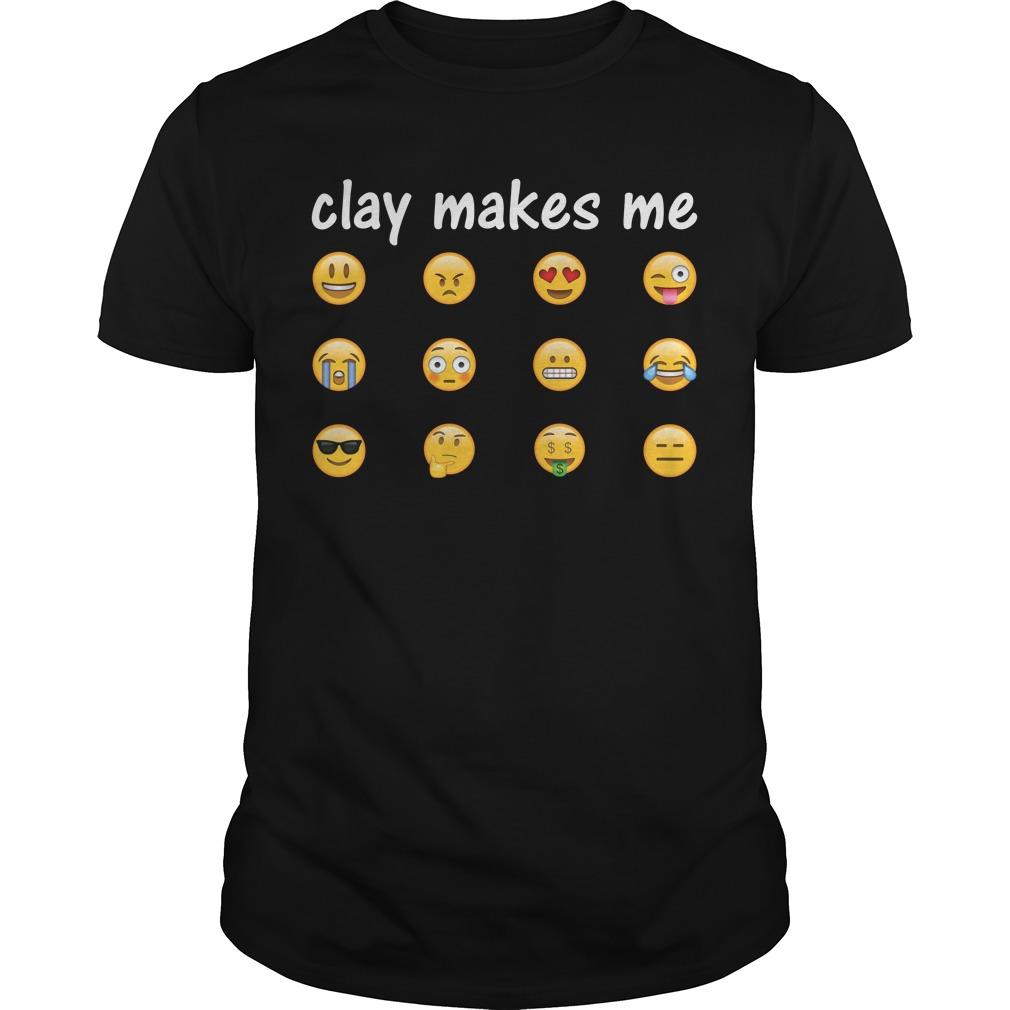 Clay makes me light on dark shirt