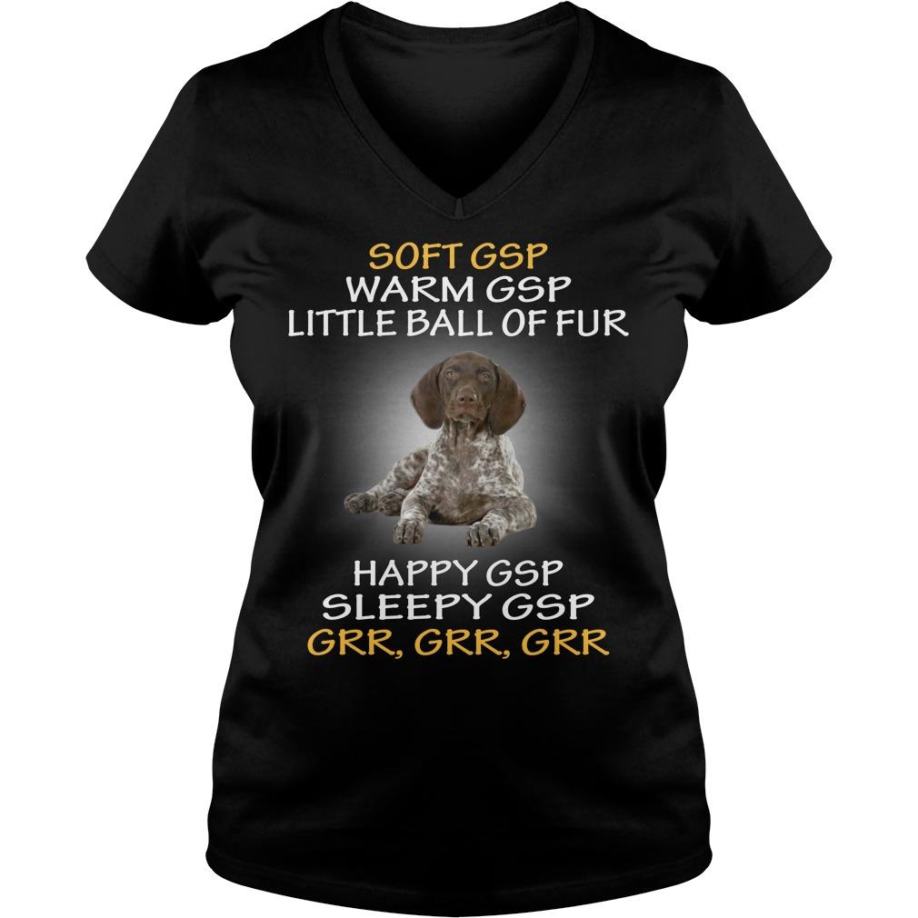 German shorthaired pointer little ball of fur V-neck t-shirt