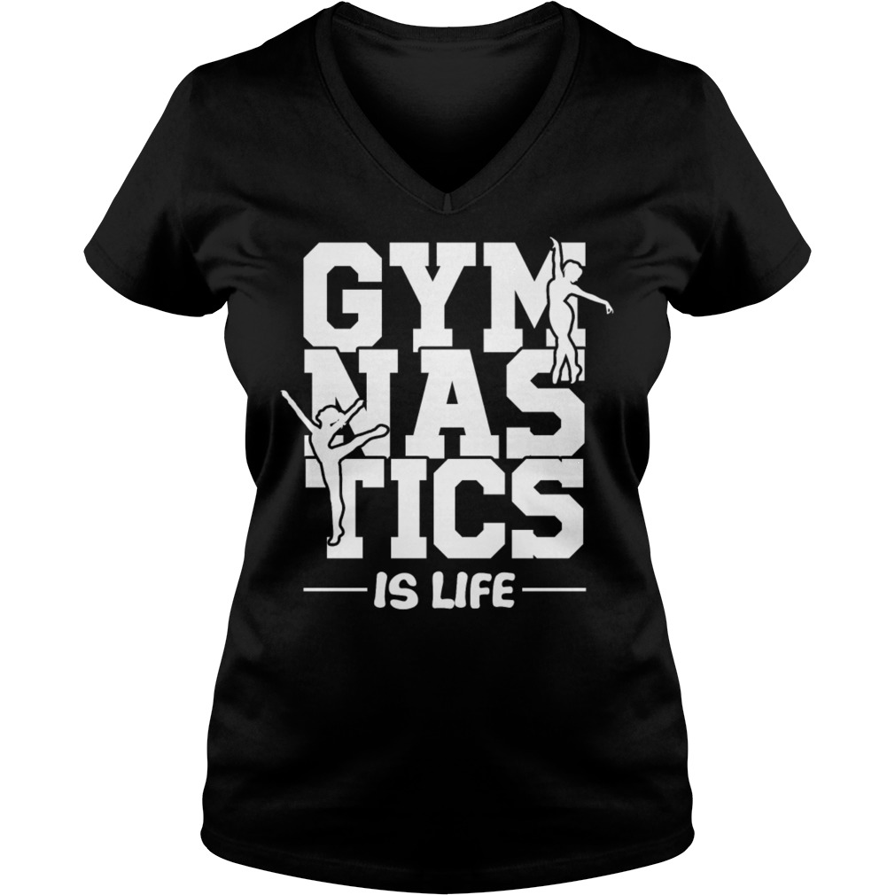 Official Gymnastic is life V-neck t-shirt