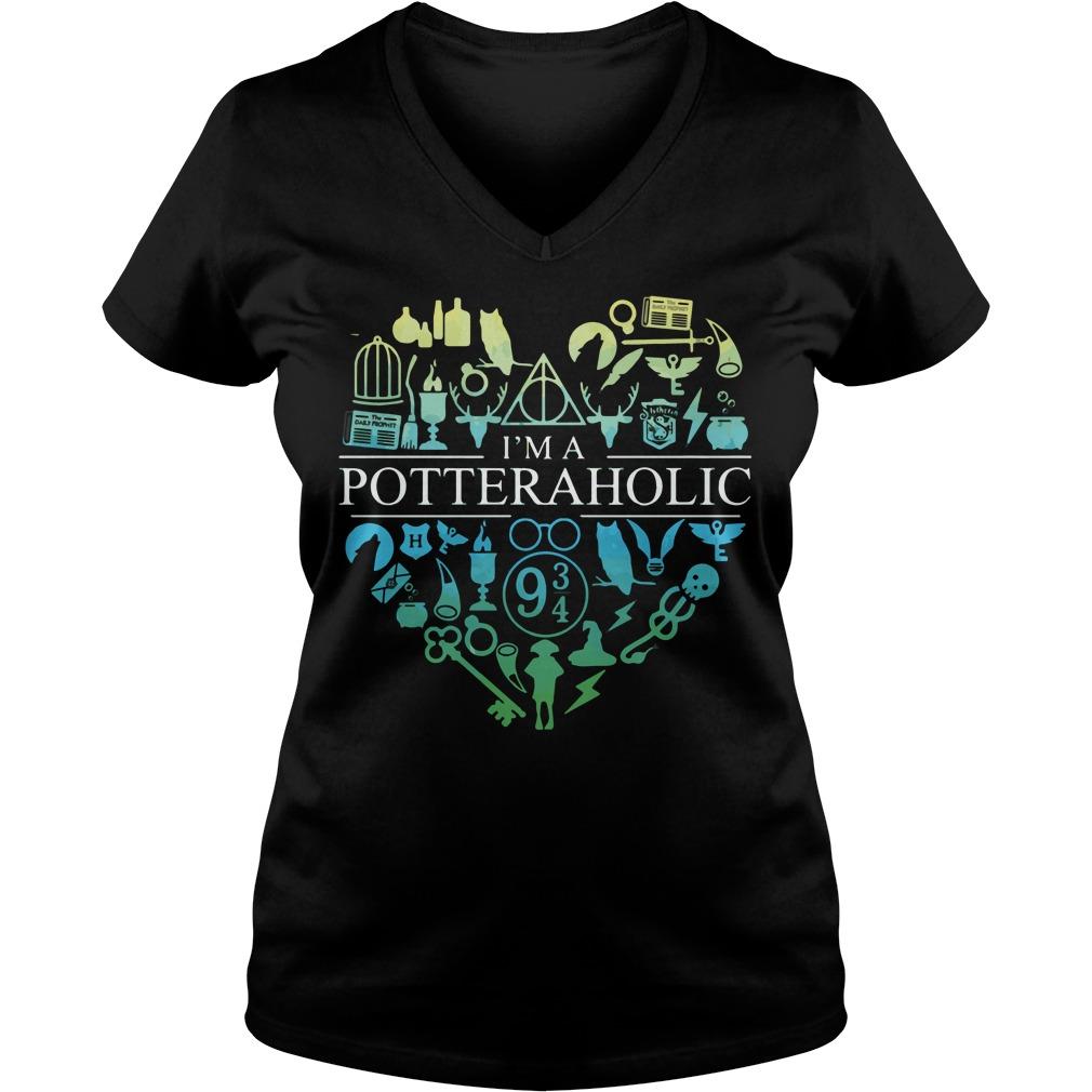 Official I'm a potteraholic V-neck t-shirt
