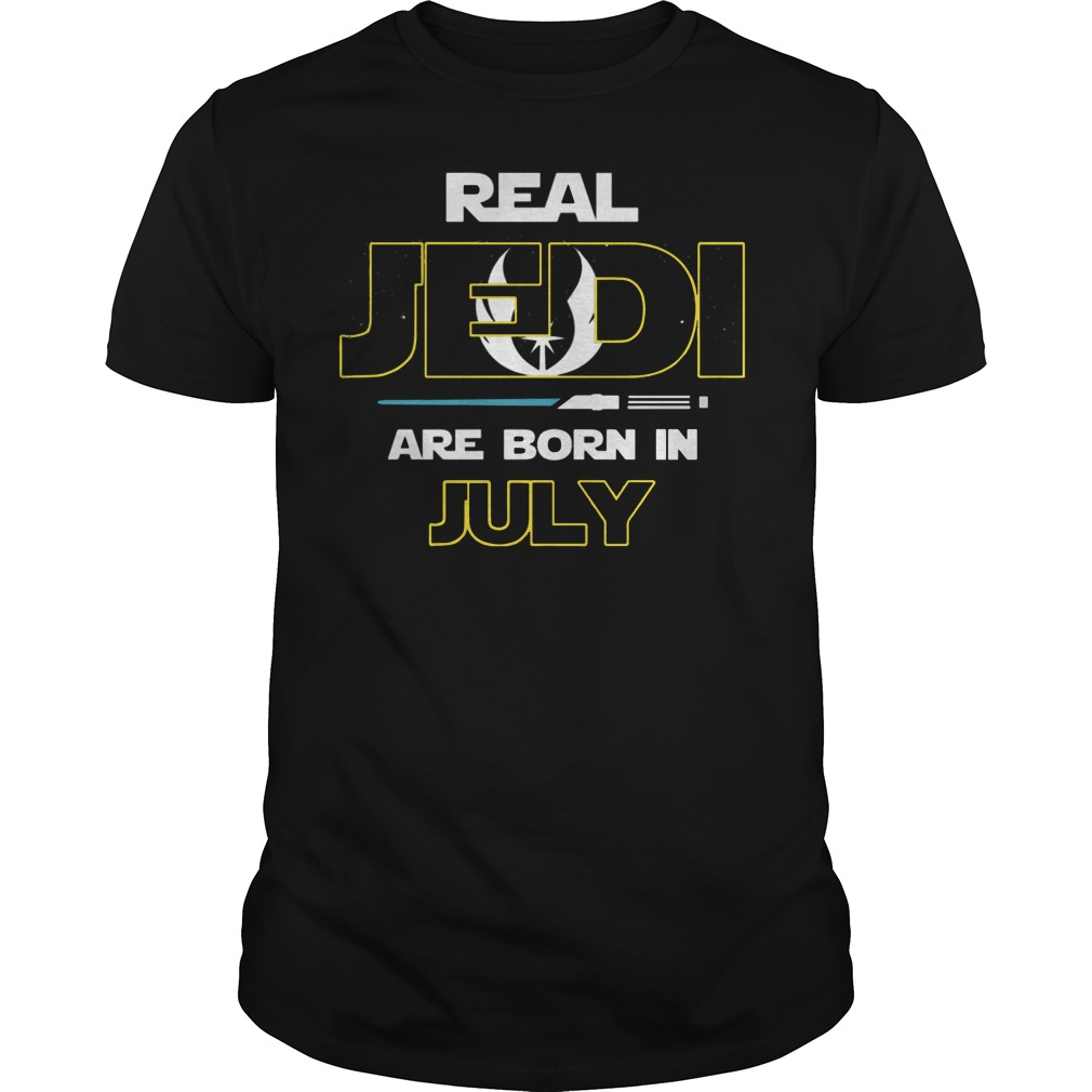 Official Real jedi are born in July shirt