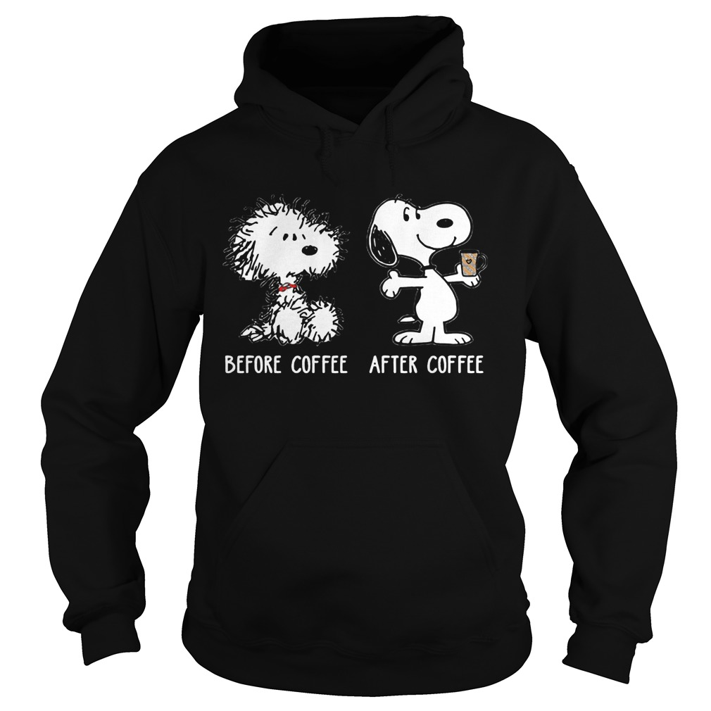 Snoopy before coffee after coffee Hoodie