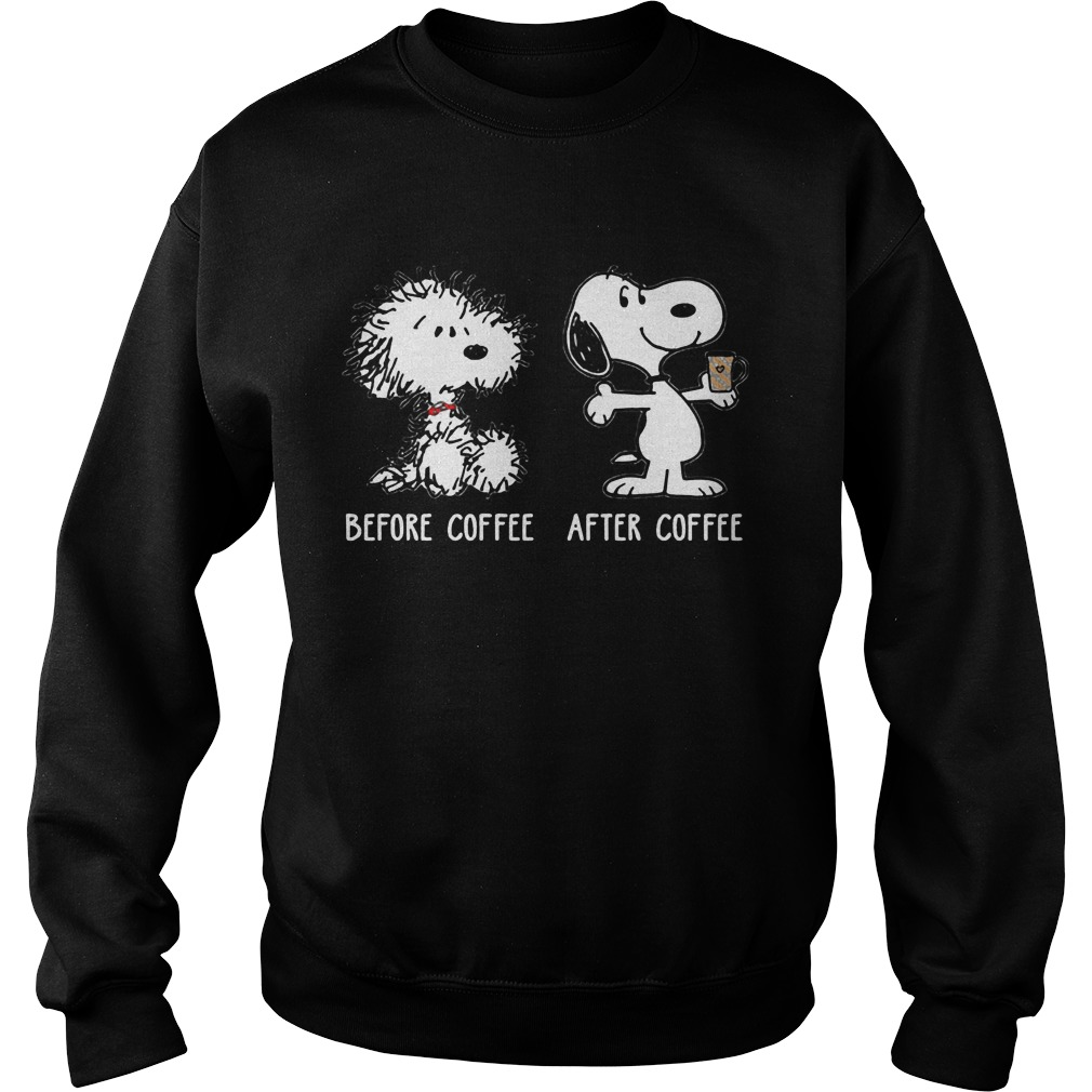 Snoopy before coffee after coffee Sweater