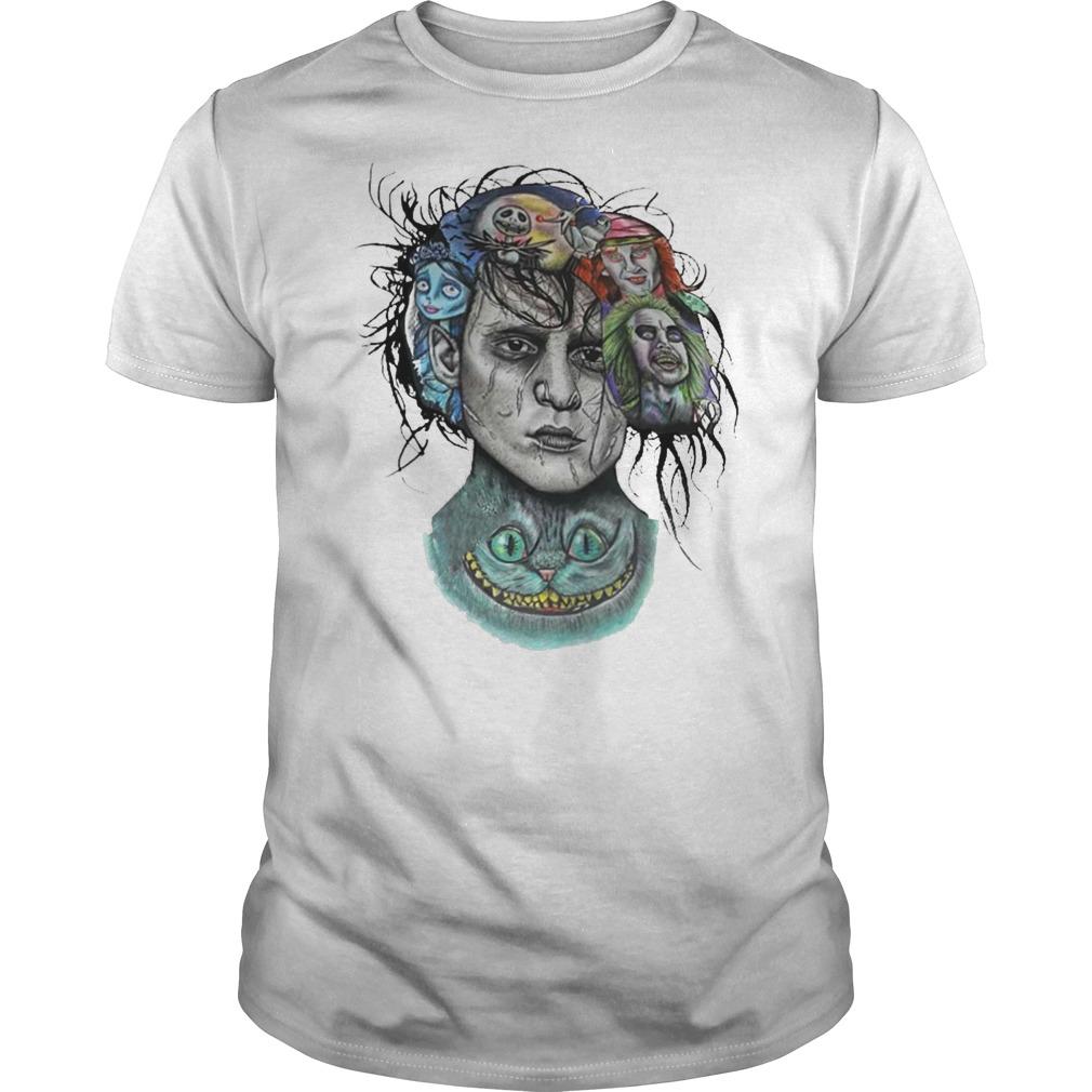 Beetlejuice Jack and Sally Johnny Depp CheshireEdward Scissorhands shirt