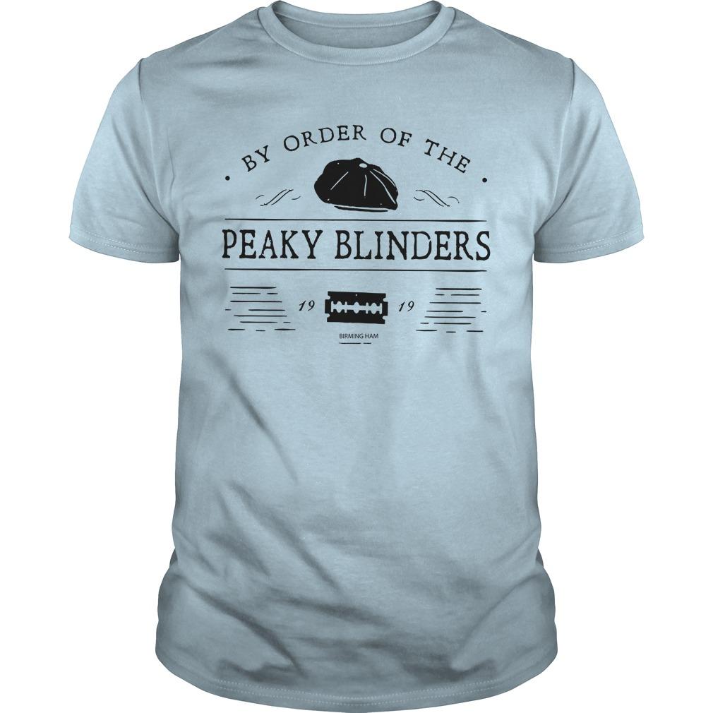 My order of the Peaky Blinders Birmingham shirt