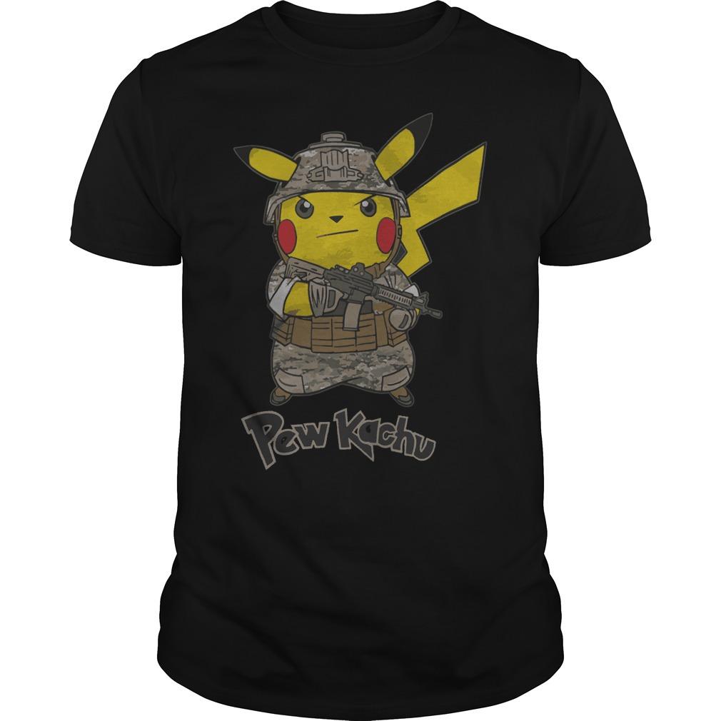 Pikachu (Pew kachu) army shirt