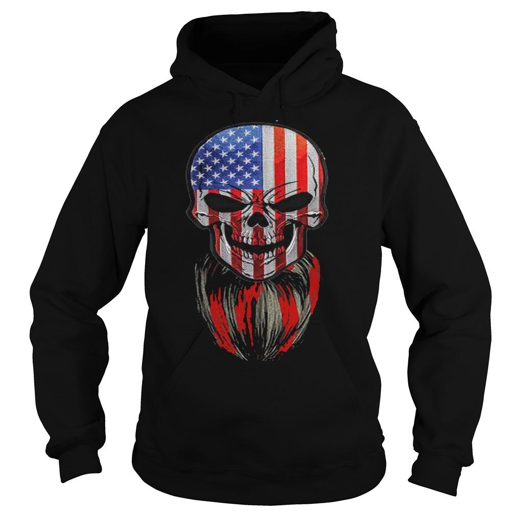 Skull American flag hoodie