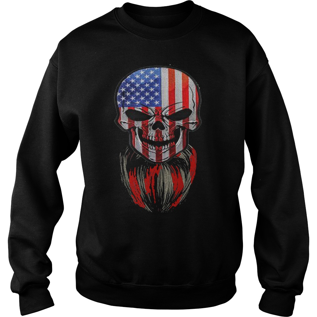 Skull American flag sweater
