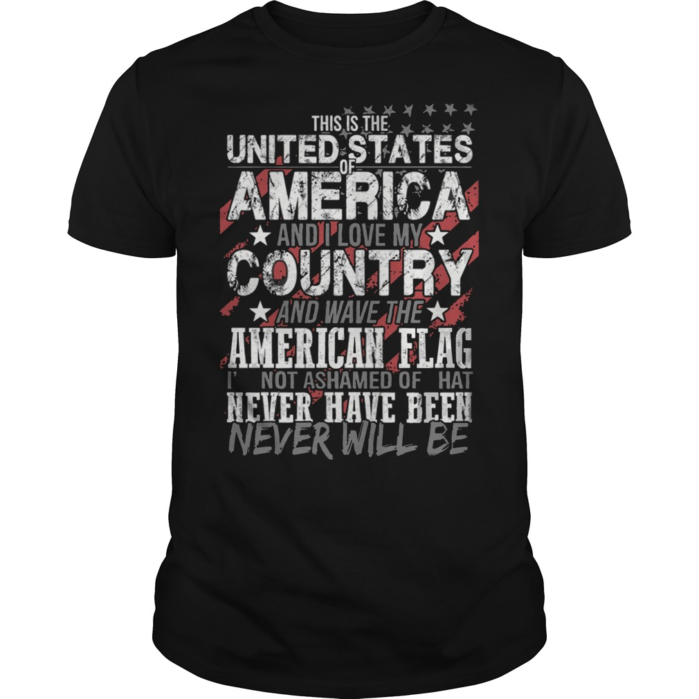 This is the United States of America and I love my country flag shirt